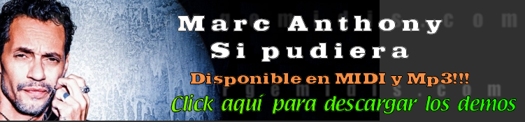 Marc Anthony Si pudiera midi instrumental mp3 karaoke