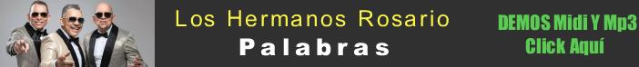 Los Hermanos Rosario - Palabras midi instrumental mp3 karaoke